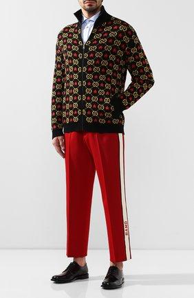 Мужской шерстяные брюки GUCCI красного цвета, арт. 568670/Z570J | Фото 2