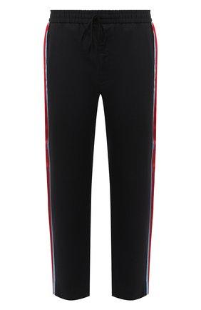 Мужской хлопковые брюки GUCCI черного цвета, арт. 575318/Z3786 | Фото 1