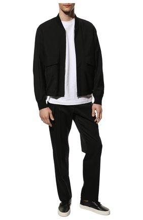 Мужские кожаные кеды SAINT LAURENT черного цвета, арт. 587415/1KV20 | Фото 2