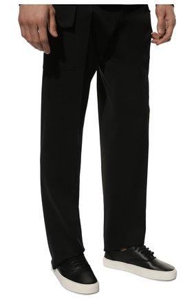 Мужские кожаные кеды SAINT LAURENT черного цвета, арт. 587415/1KV20 | Фото 3