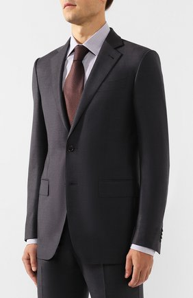 Мужской шерстяной костюм ERMENEGILDO ZEGNA серого цвета, арт. 622684/221225 | Фото 2