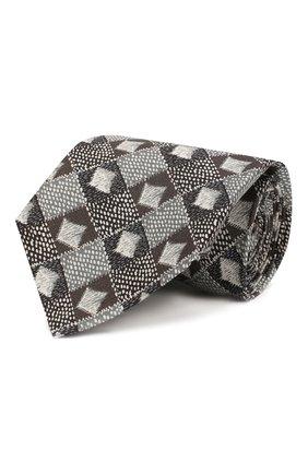 Мужской шелковый галстук GIORGIO ARMANI бежевого цвета, арт. 360054/9A807 | Фото 1