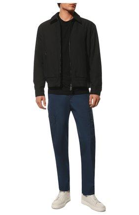 Мужская футболка из вискозы GIORGIO ARMANI черного цвета, арт. 3GST52/SJP4Z   Фото 2