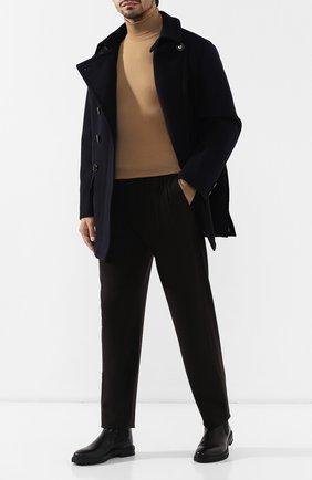 Мужской шерстяное пальто GIORGIO ARMANI темно-синего цвета, арт. 9WG0C02A/T00D7 | Фото 2