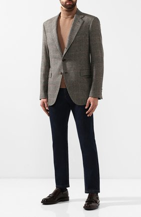 Мужские кожаные монки BRUNELLO CUCINELLI коричневого цвета, арт. MZUEPSU850 | Фото 2