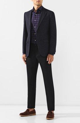 Мужская хлопковая рубашка LUIGI BORRELLI фиолетового цвета, арт. EV08/NAND0/TS8671   Фото 2