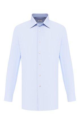 Мужская хлопковая сорочка BRIONI голубого цвета, арт. RCLU1R/0804U | Фото 1