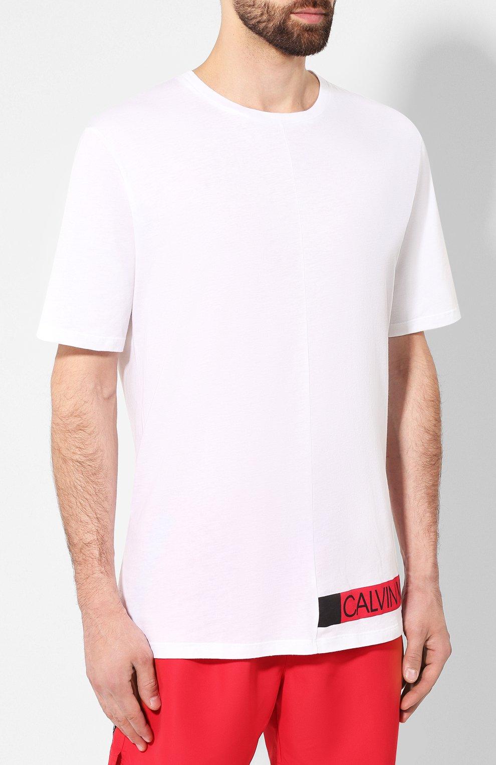 Мужская футболка CALVIN KLEIN белого цвета, арт. KM0KM00331 | Фото 3