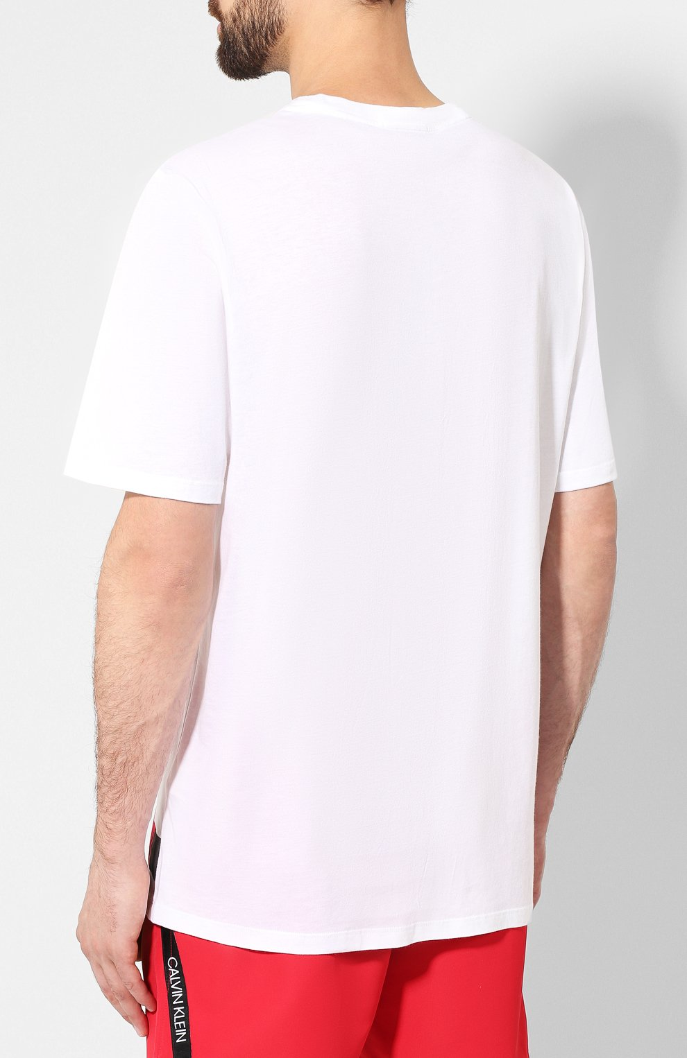Мужская футболка CALVIN KLEIN белого цвета, арт. KM0KM00331 | Фото 4