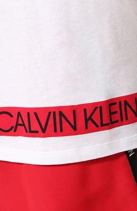 Мужская футболка CALVIN KLEIN белого цвета, арт. KM0KM00331 | Фото 5