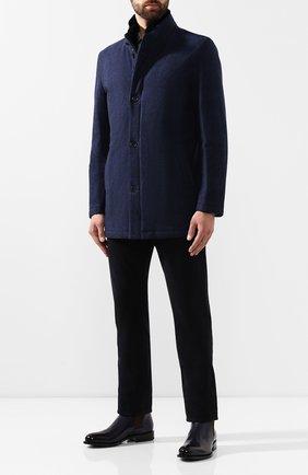 Мужской шерстяное пальто ANDREA CAMPAGNA синего цвета, арт. A8T767/4457   Фото 2