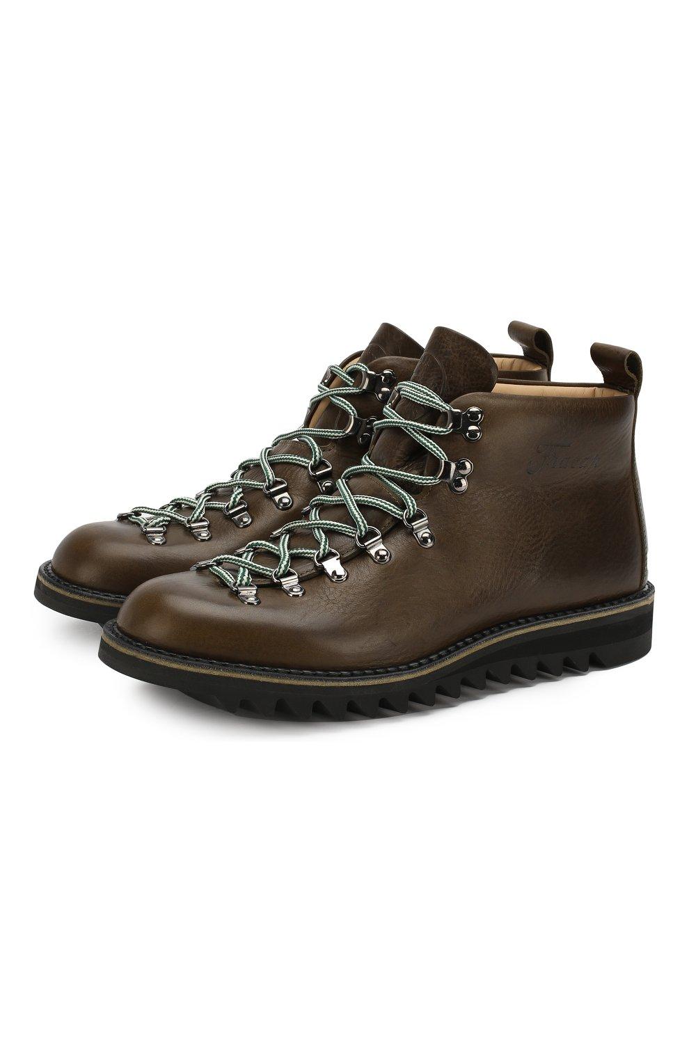 Мужские кожаные ботинки FRACAP хаки цвета, арт. M120/RIPPLE/NEBRASKA/GUARD0L0 PIATT0 | Фото 1