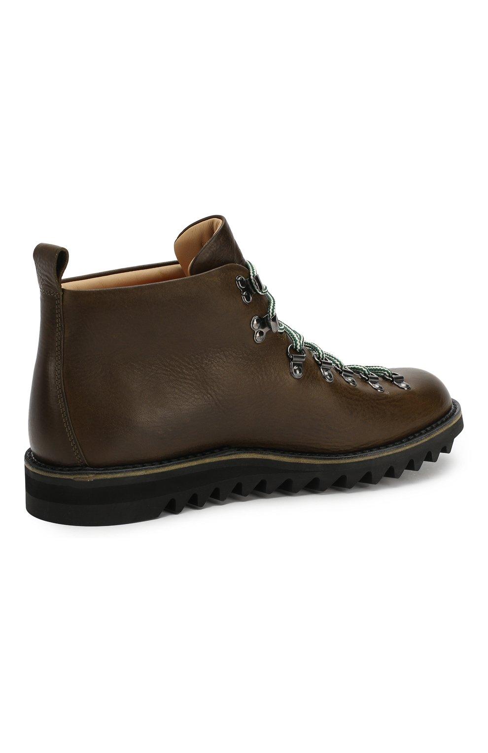 Мужские кожаные ботинки FRACAP хаки цвета, арт. M120/RIPPLE/NEBRASKA/GUARD0L0 PIATT0 | Фото 4