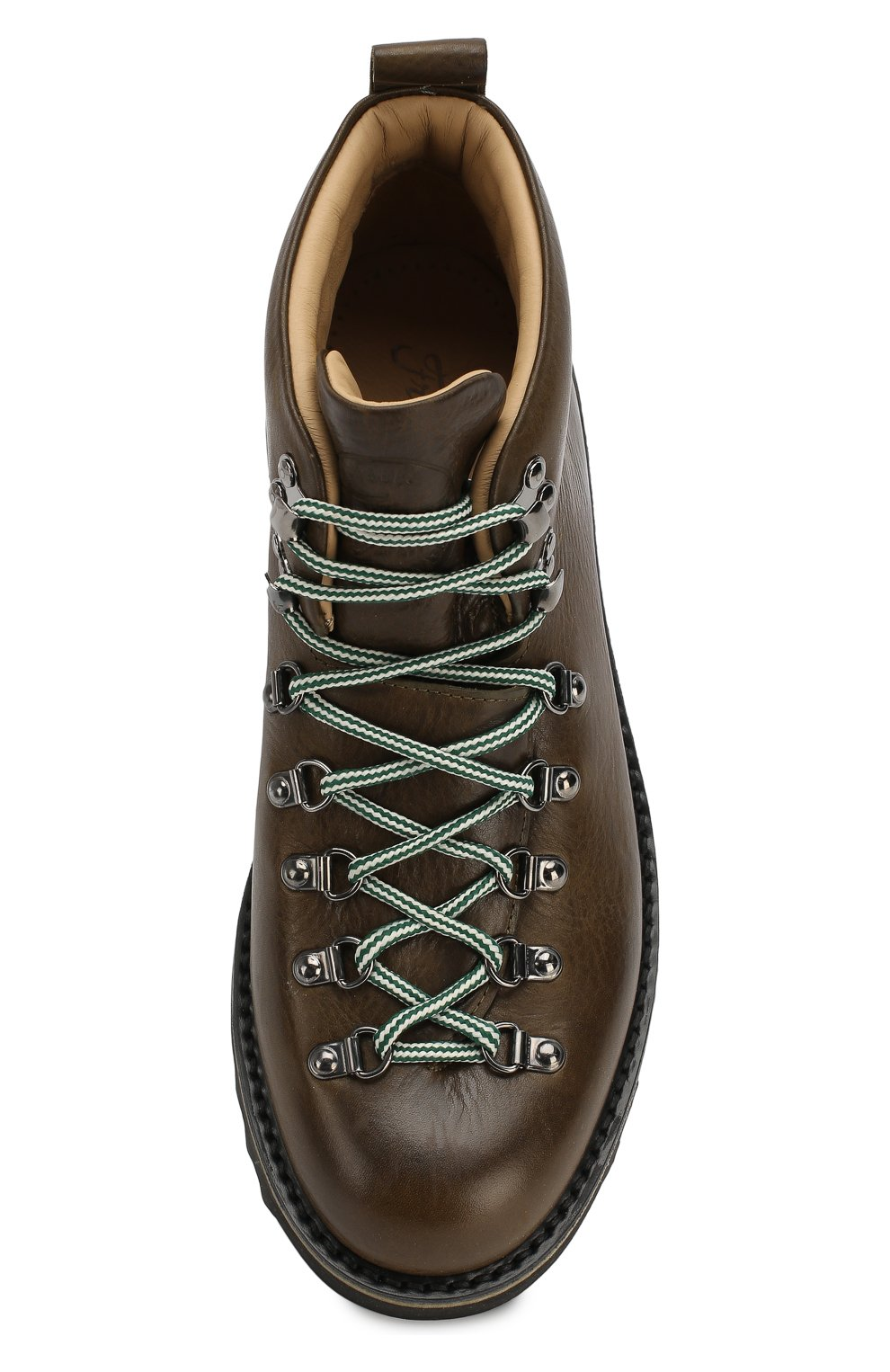Мужские кожаные ботинки FRACAP хаки цвета, арт. M120/RIPPLE/NEBRASKA/GUARD0L0 PIATT0 | Фото 5