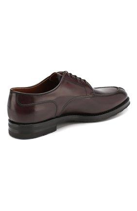 Мужские кожаные дерби W.GIBBS бордового цвета, арт. 0639010/0149 | Фото 4
