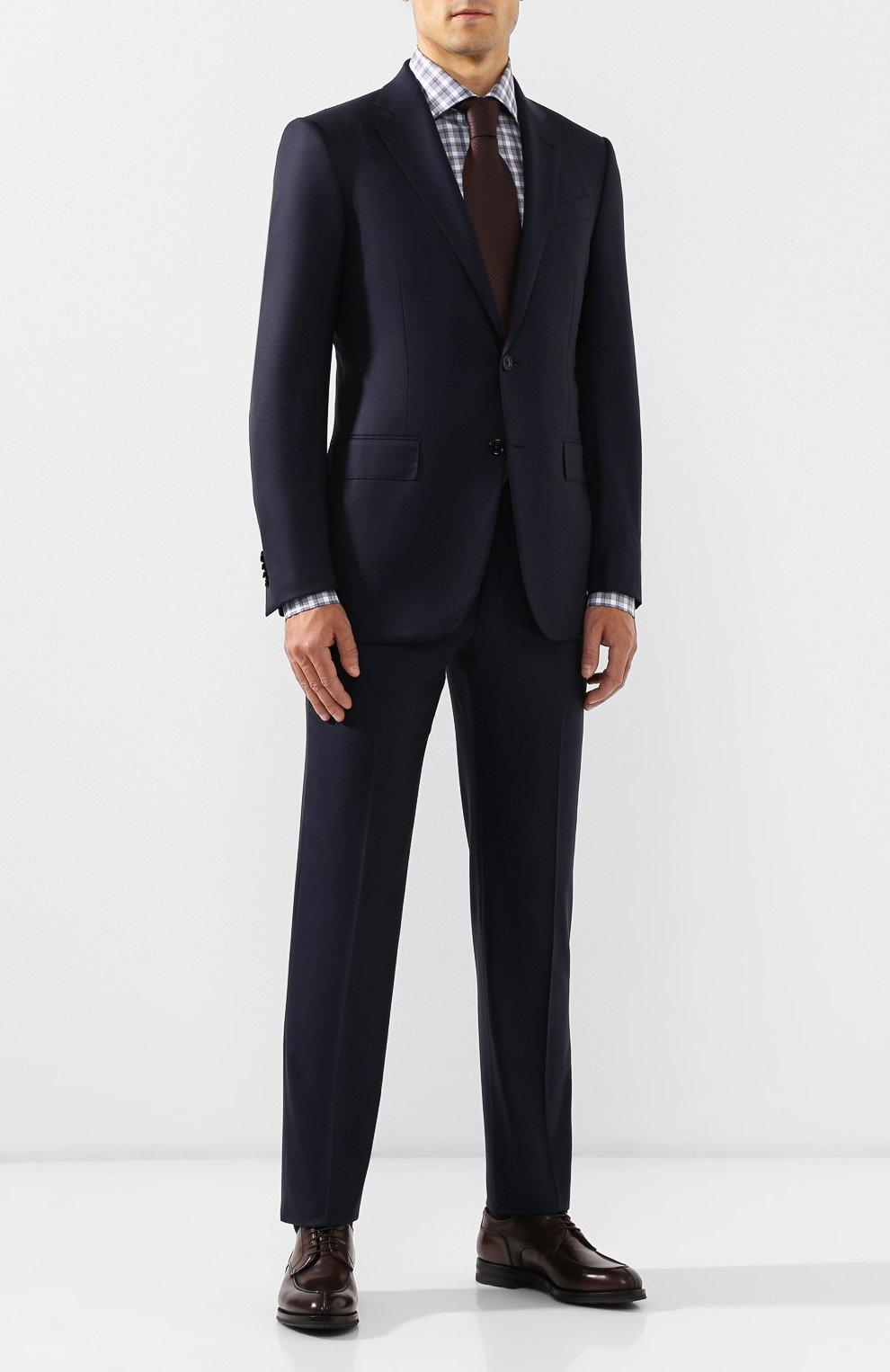 Мужские кожаные дерби W.GIBBS темно-коричневого цвета, арт. 0639010/0149   Фото 2