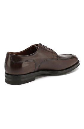 Мужские кожаные дерби W.GIBBS темно-коричневого цвета, арт. 0639010/0149   Фото 4