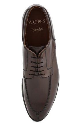 Мужские кожаные дерби W.GIBBS темно-коричневого цвета, арт. 0639010/0149   Фото 5