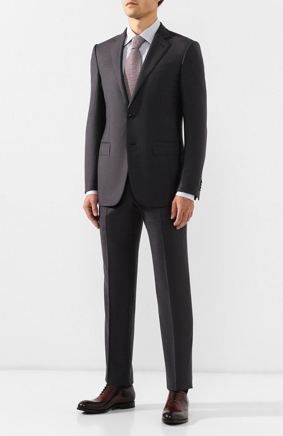 Мужские кожаные оксфорды W.GIBBS темно-коричневого цвета, арт. 2552059/0216 | Фото 2