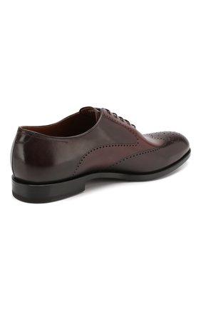 Мужские кожаные оксфорды W.GIBBS темно-коричневого цвета, арт. 2552059/0216 | Фото 4