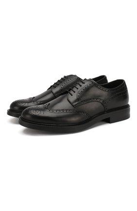 Мужские кожаные дерби W.GIBBS черного цвета, арт. 3169007/0214 | Фото 1