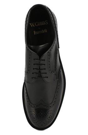 Мужские кожаные дерби W.GIBBS черного цвета, арт. 3169007/0214 | Фото 5