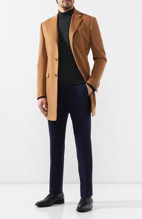 Мужские кожаные дерби ALDO BRUE темно-синего цвета, арт. AB4083H-CM   Фото 2