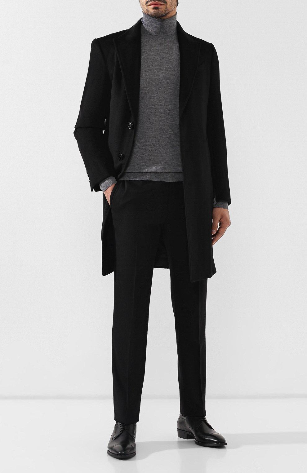 Мужские кожаные дерби ALDO BRUE черного цвета, арт. AB603FPH-NL   Фото 2