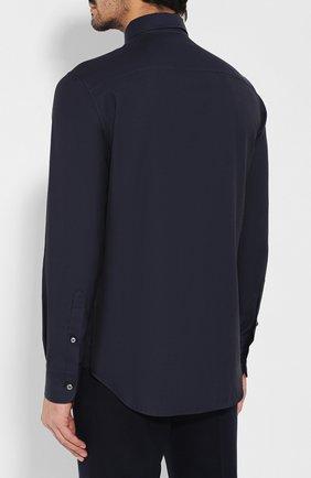 Мужская сорочка из смеси хлопка и кашемира BRIONI темно-синего цвета, арт. SCCA0L/0602I | Фото 4