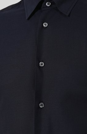 Мужская сорочка из смеси хлопка и кашемира BRIONI темно-синего цвета, арт. SCCA0L/0602I | Фото 5