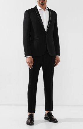 Мужские кожаные дерби TOD'S черного цвета, арт. XXM45A00C10AKT | Фото 2