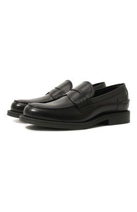 Мужские кожаные пенни-лоферы TOD'S черного цвета, арт. XXM80B0BR30LYG | Фото 1