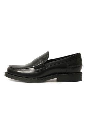 Мужские кожаные пенни-лоферы TOD'S черного цвета, арт. XXM80B0BR30LYG | Фото 2