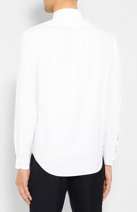 Мужская хлопковая рубашка KENZO белого цвета, арт. F965CH4001LA | Фото 4