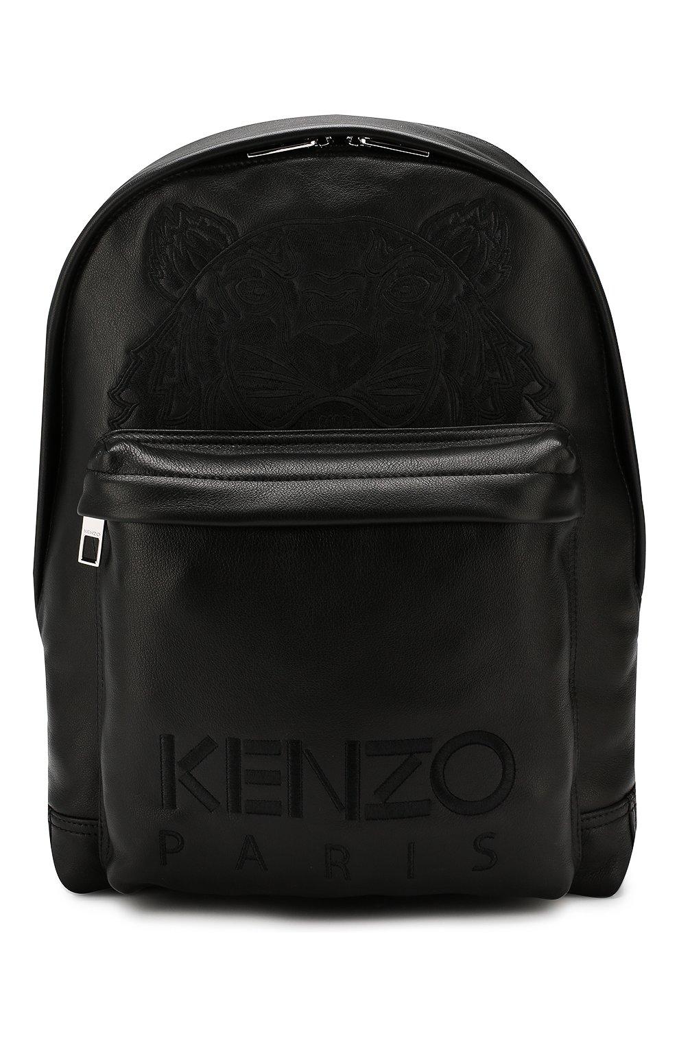 Мужской кожаный рюкзак KENZO черного цвета, арт. F865SF300L49   Фото 1