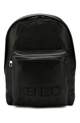 Мужской кожаный рюкзак KENZO черного цвета, арт. F865SF300L49 | Фото 1