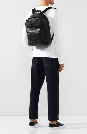 Мужской кожаный рюкзак KENZO черного цвета, арт. F865SF300L49 | Фото 2