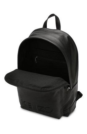 Мужской кожаный рюкзак KENZO черного цвета, арт. F865SF300L49   Фото 4