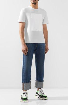 Мужская хлопковая футболка MAISON MARGIELA белого цвета, арт. S50GC0560/S23182   Фото 2