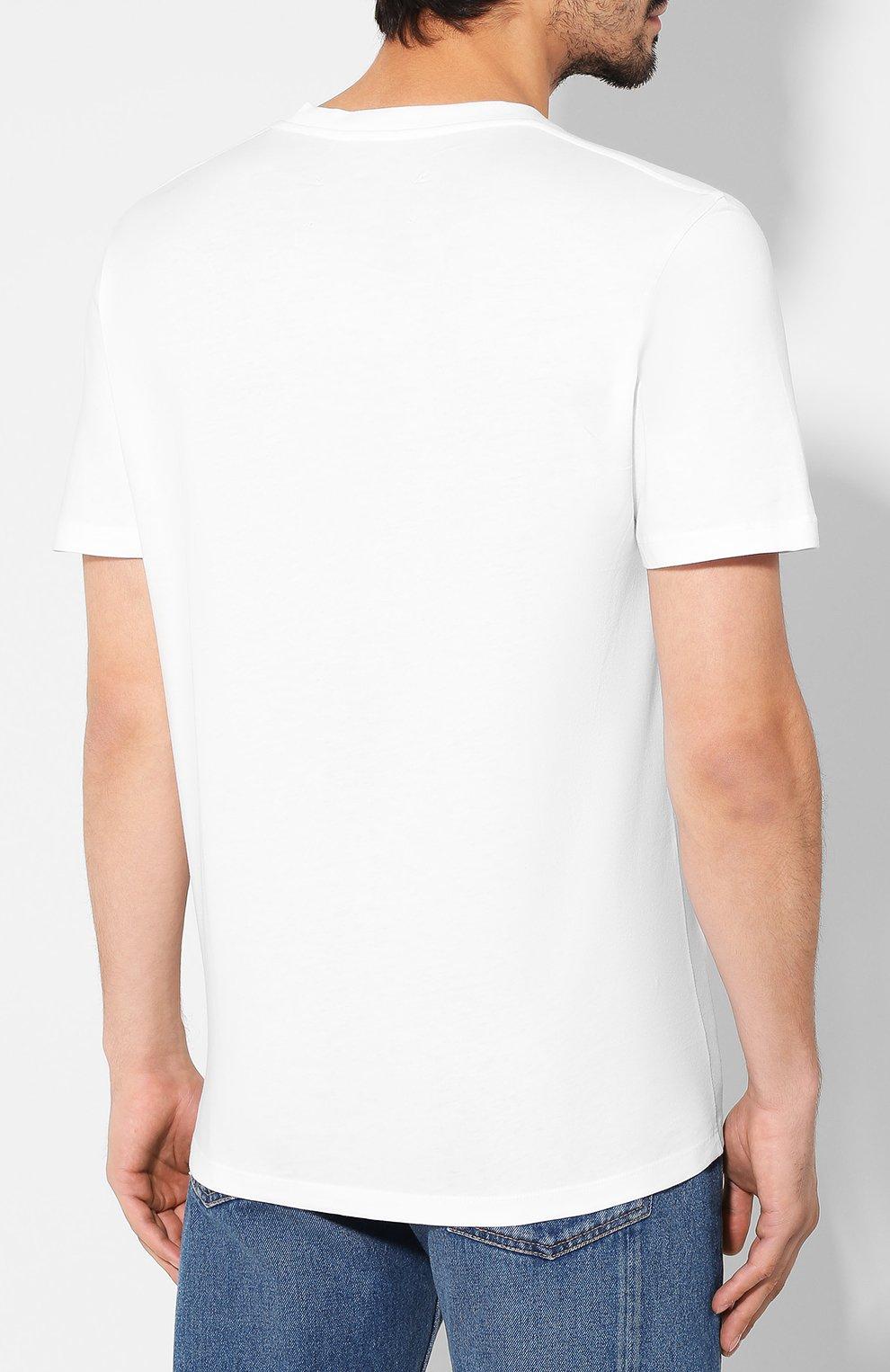Мужская хлопковая футболка MAISON MARGIELA белого цвета, арт. S50GC0560/S23182   Фото 4