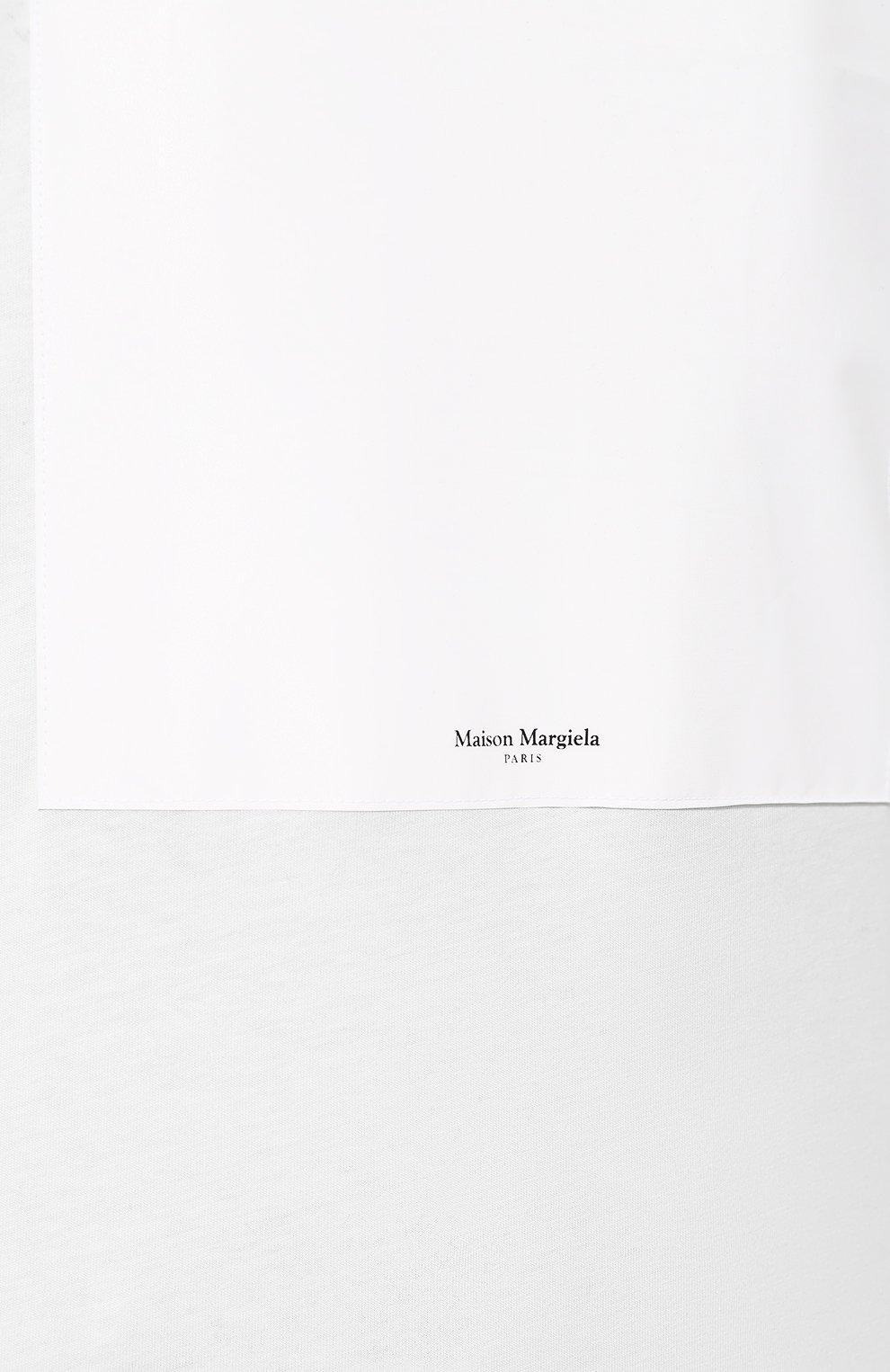 Мужская хлопковая футболка MAISON MARGIELA белого цвета, арт. S50GC0560/S23182   Фото 5