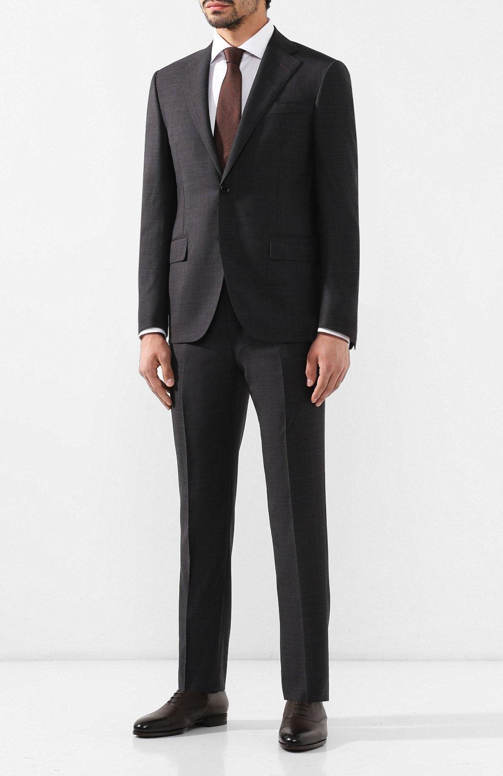 Мужские кожаные оксфорды DOUCAL'S темно-коричневого цвета, арт. DU1260KANSUM019TM00 | Фото 2