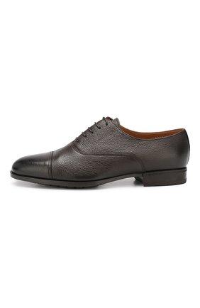 Мужские кожаные оксфорды DOUCAL'S темно-коричневого цвета, арт. DU1260KANSUM019TM00 | Фото 3