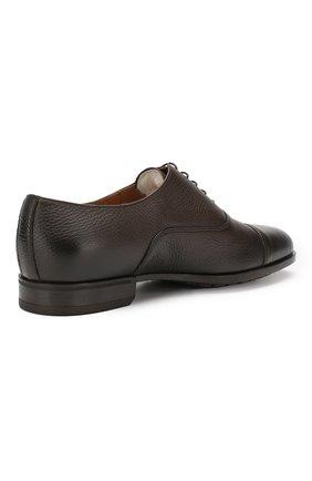 Мужские кожаные оксфорды DOUCAL'S темно-коричневого цвета, арт. DU1260KANSUM019TM00 | Фото 4