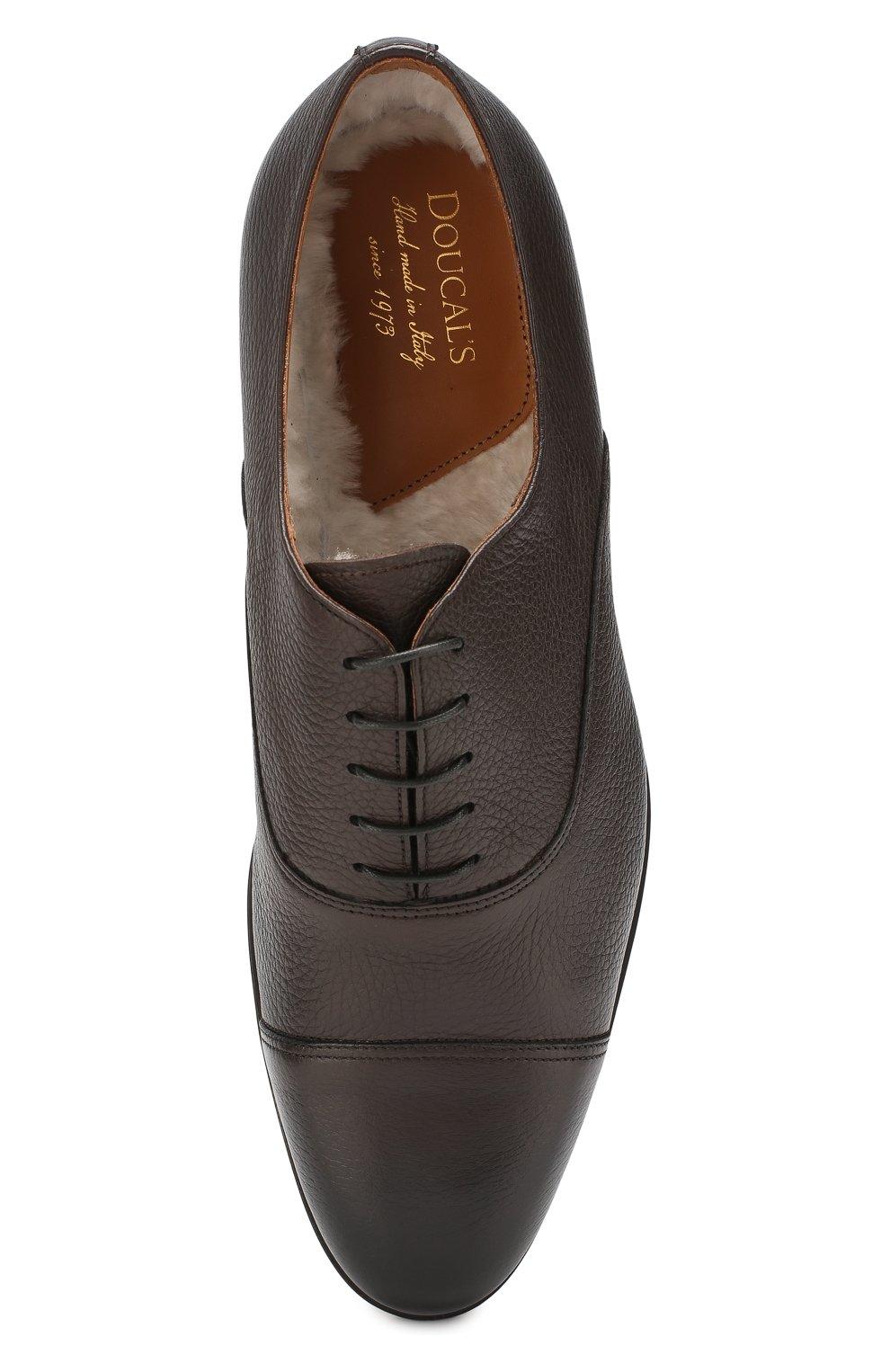 Мужские кожаные оксфорды DOUCAL'S темно-коричневого цвета, арт. DU1260KANSUM019TM00 | Фото 5