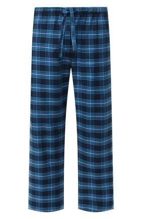 Мужские хлопковый брюки DEREK ROSE темно-синего цвета, арт. 3564-KELB008 | Фото 1