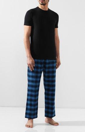 Мужские хлопковый брюки DEREK ROSE темно-синего цвета, арт. 3564-KELB008 | Фото 2