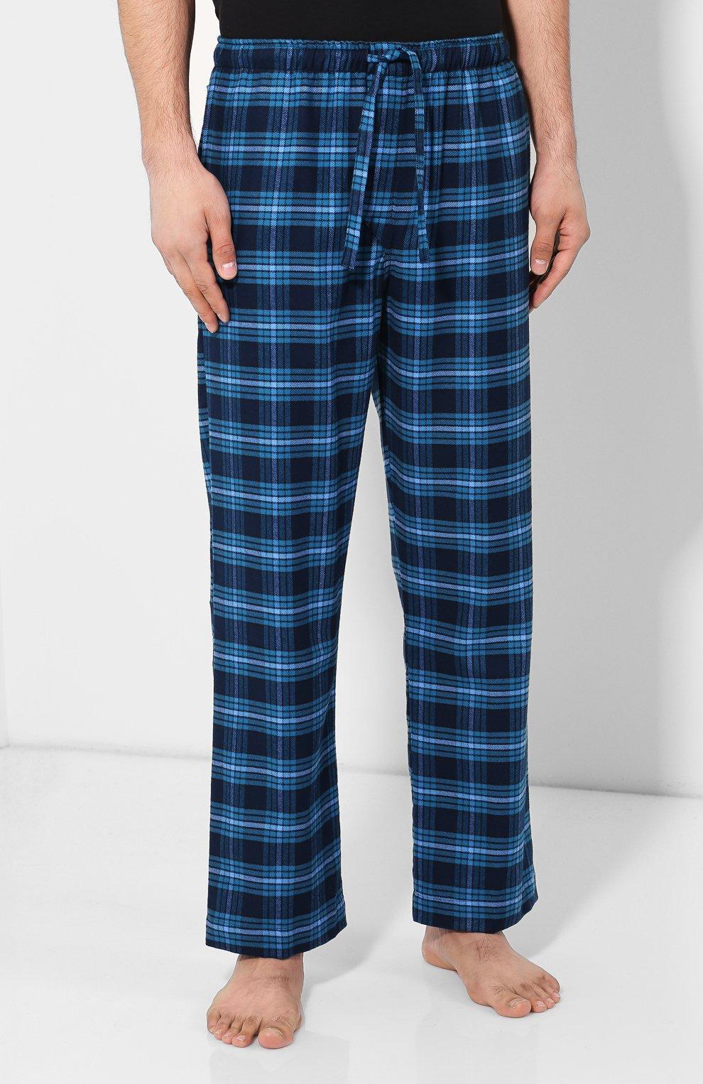 Мужские хлопковый брюки DEREK ROSE темно-синего цвета, арт. 3564-KELB008 | Фото 3