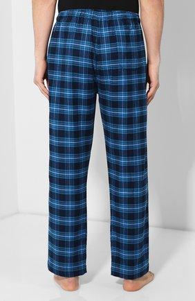 Мужские хлопковый брюки DEREK ROSE темно-синего цвета, арт. 3564-KELB008 | Фото 4