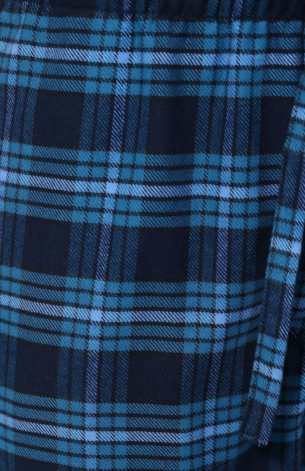 Мужские хлопковый брюки DEREK ROSE темно-синего цвета, арт. 3564-KELB008 | Фото 5